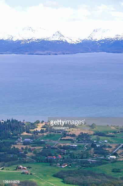Skyline Drive view of Kachemak Bay and Kenai Mountains