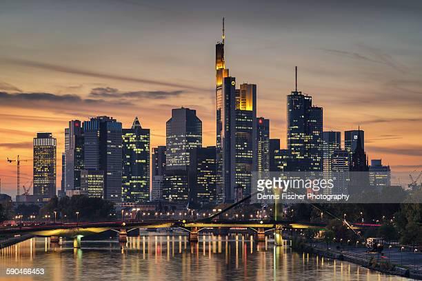 Skyline Frankfurt, Main, sunset