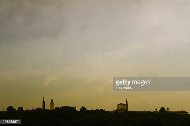 Skyline from Cuneo, Italy