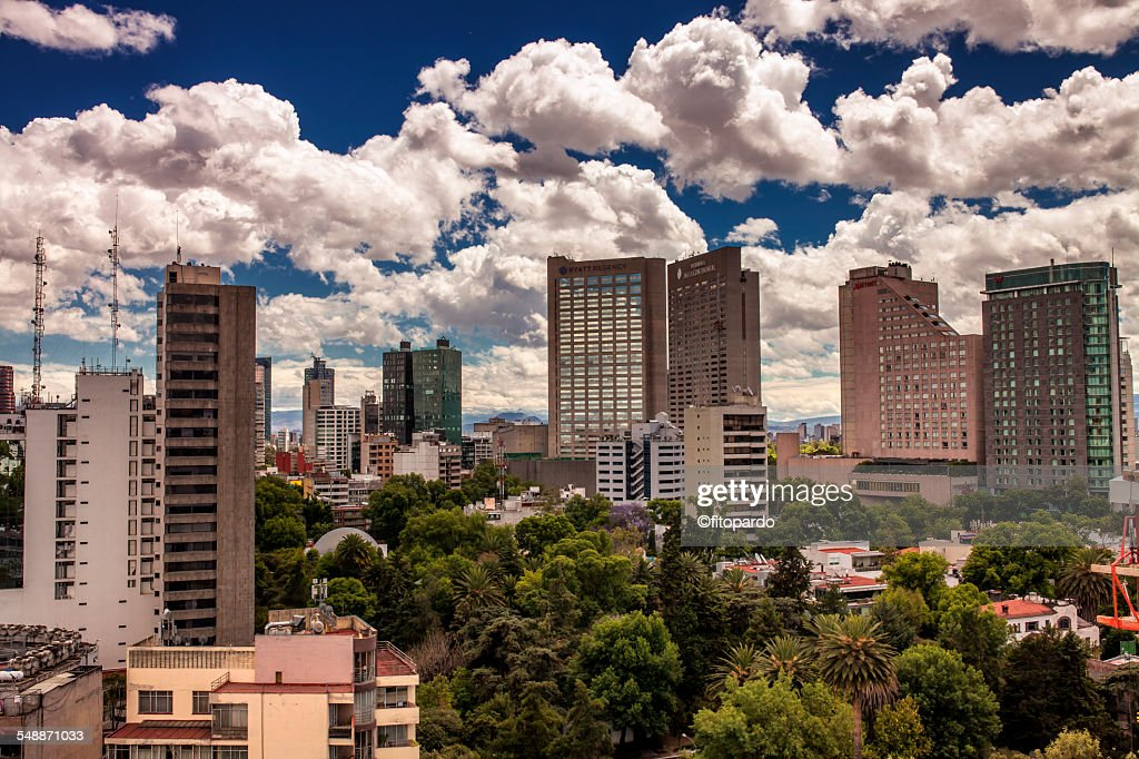 Skyline From The Hotels In Polanco Mexico City Stock Photo