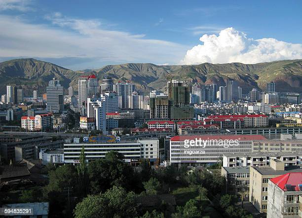 Skyline in Xining, Qinghai, China