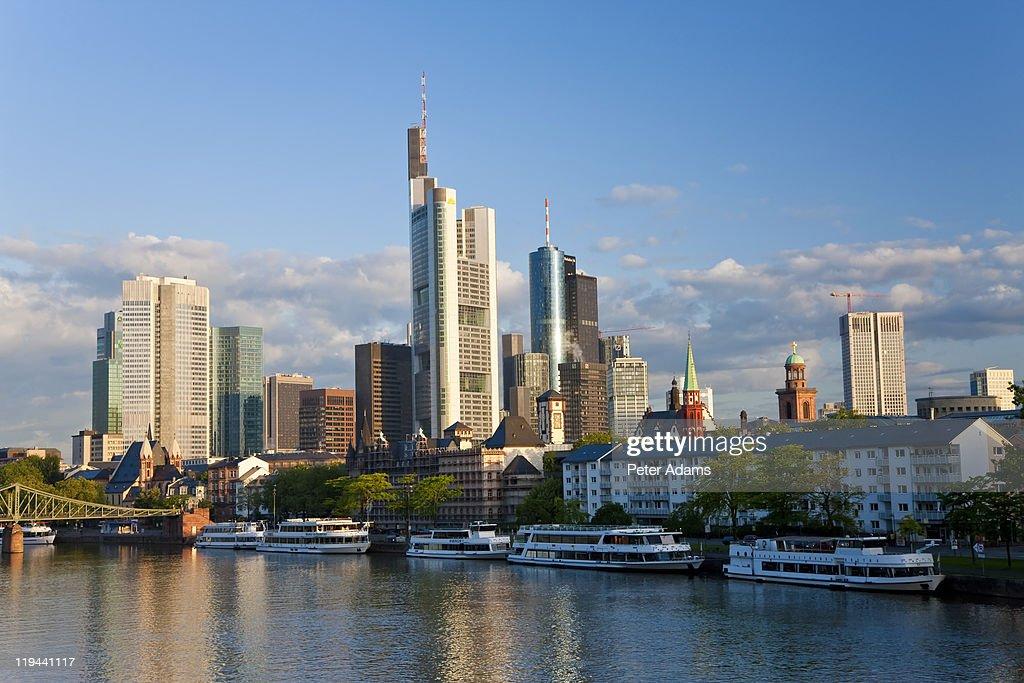 Skyline & Main River, Frankfurt, Germany