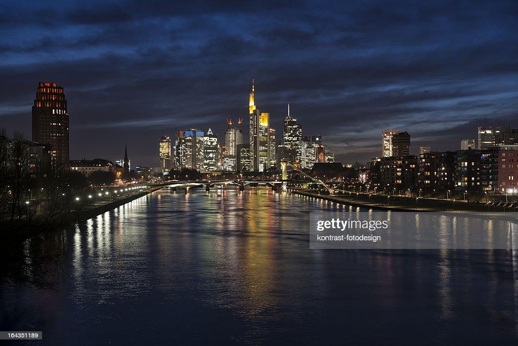 Skyline, Main River, Frankfurt, Germany : Stock Photo