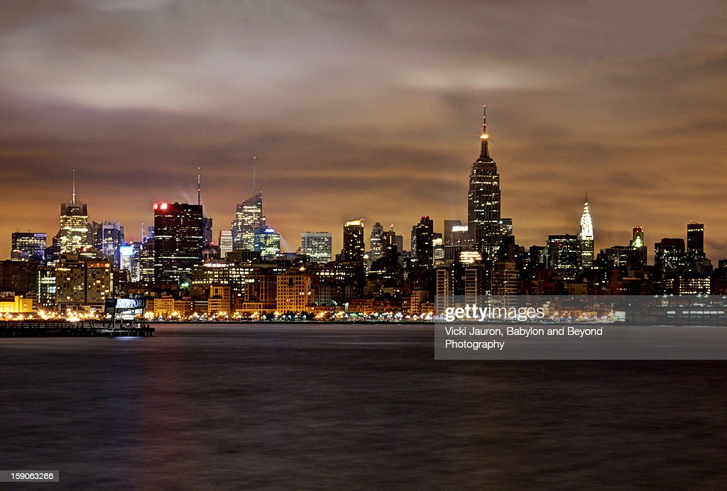 NYC Skyline - Midtown View in Gold