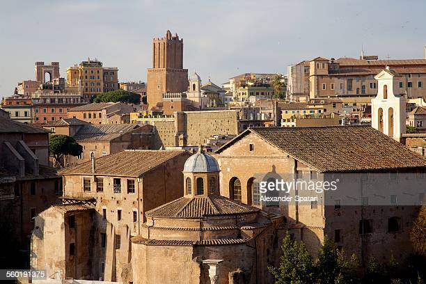 Skyline of Ancient Rome (Foro Romano) in Italy