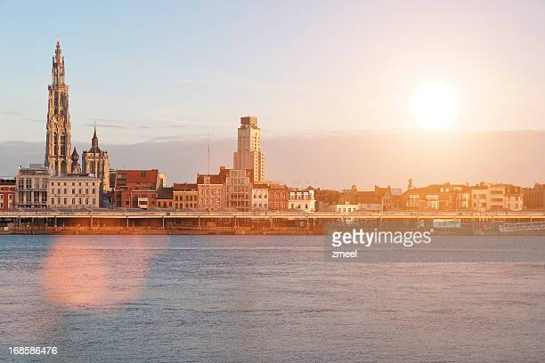 Skyline of Antwerp - Sunset