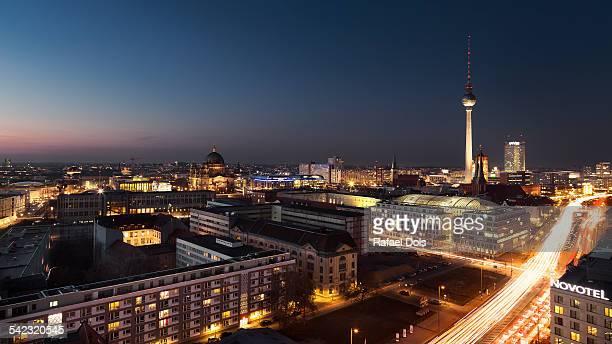 Skyline of Berlin at night