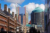 Skyline of central Hague (Den Haag)