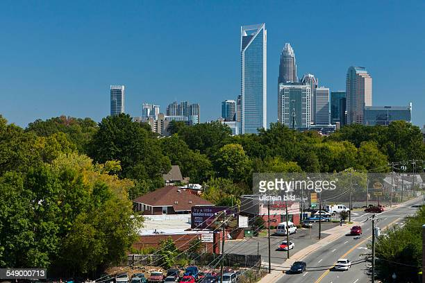 Skyline of Charlotte North Carolina's largest city and second largest banking and financial center in the United States