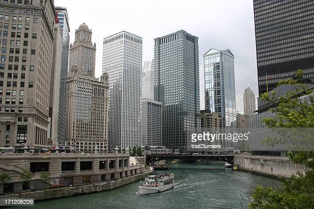 Skyline of Chicago's Downtown in Illinois