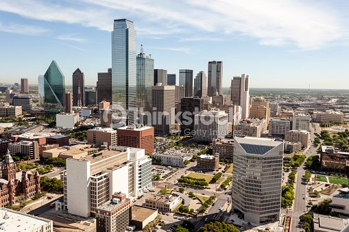 Skyline of Dallas downtown : Stock Photo