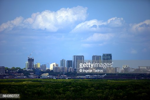 Skyline of Darwin city