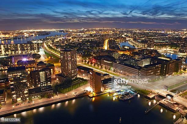 skyline of docklands of Rotterdam