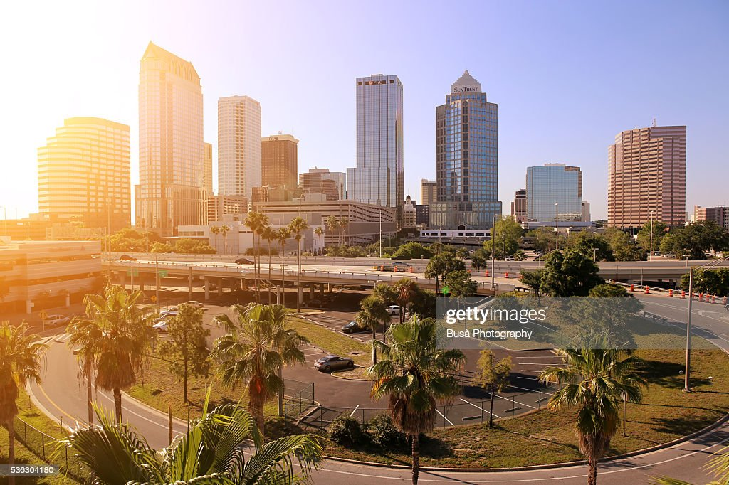 Skyline of Downtown Tampa, Florida, US