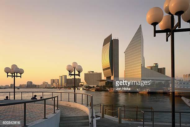 Skyline of Dubai Along Dubai Creek