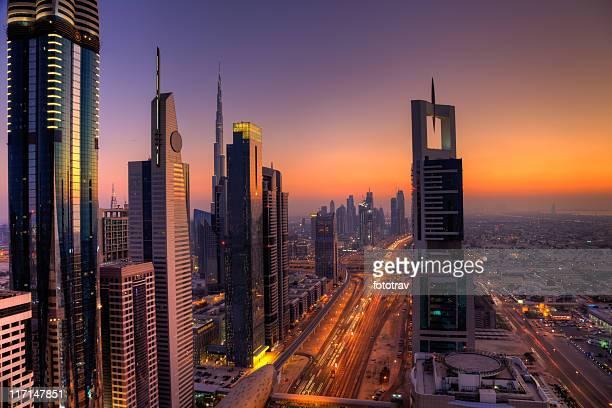 El distrito financiero de la ciudad de Dubai