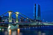 Skyline of European Central Bank, Frankfurt, Germany
