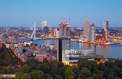 skyline of harbour Rotterdam
