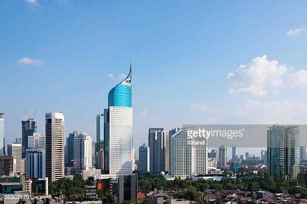 Skyline of Jakarta, Indonesia