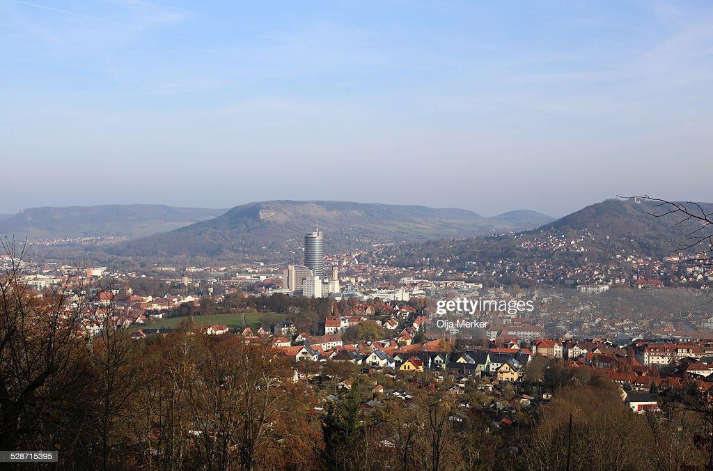 Skyline of Jena, Thuringia, Germany, Europe