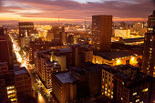 Skyline of Johannesburg City center, Johannesburg, Gauteng Province, South Africa