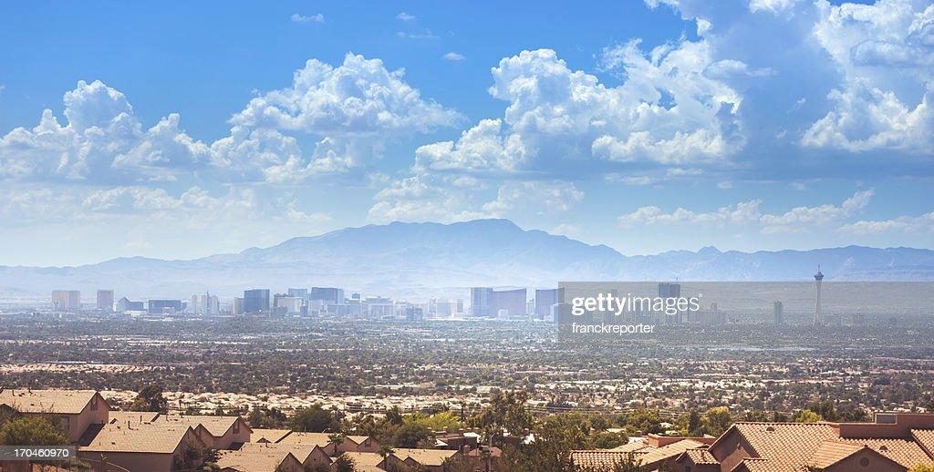 Skyline of Las Vegas city : Stock Photo