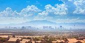 Skyline of Las Vegas city