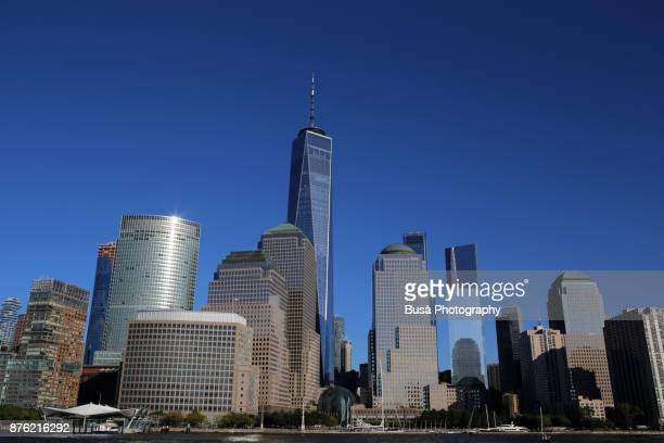 Skyline of Lower Manhattan (New York City) as seen from Paulus Hook in New Jersey, USA