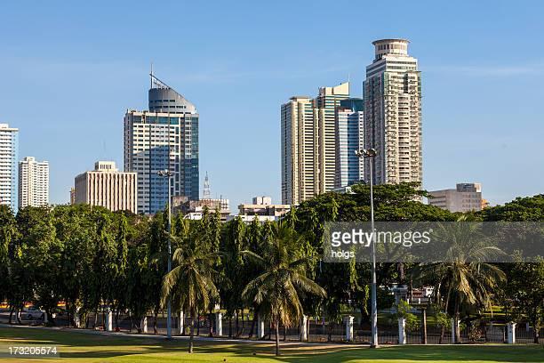Skyline von Malate Stadt in Metro Manila