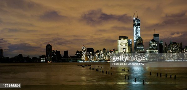 Skyline Of Manhattan Power Outage After Hurricane Sandy ... City Power Outage