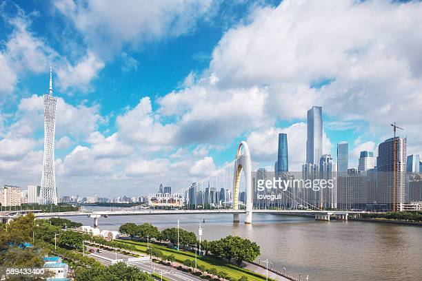skyline of modern city with cloudscape in guangzhou