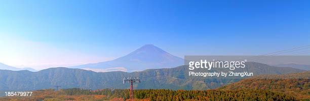 Skyline of Mt.Fuji and Ropeway from Owakudani