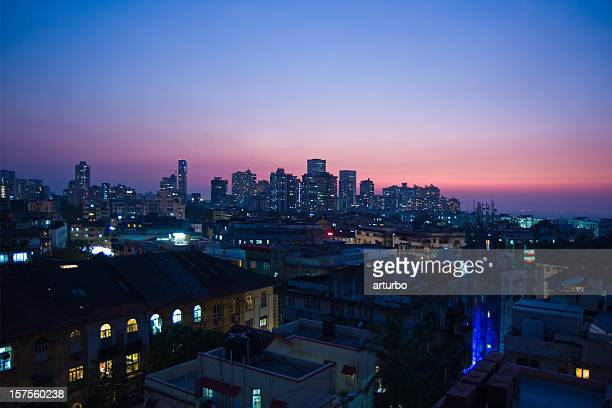 skyline di Mumbai India di notte