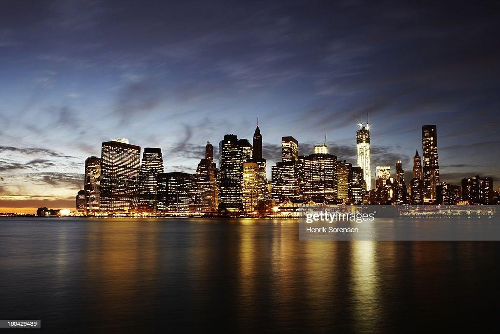 Skyline of New York : Stock Photo