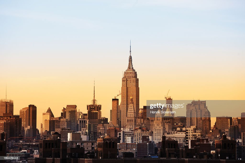 Skyline of New York with Empire State