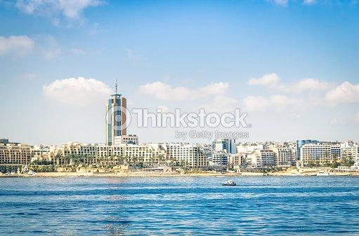 Skyline Of Paceville At St Julians In Malta Stock Photo - Thinkstock