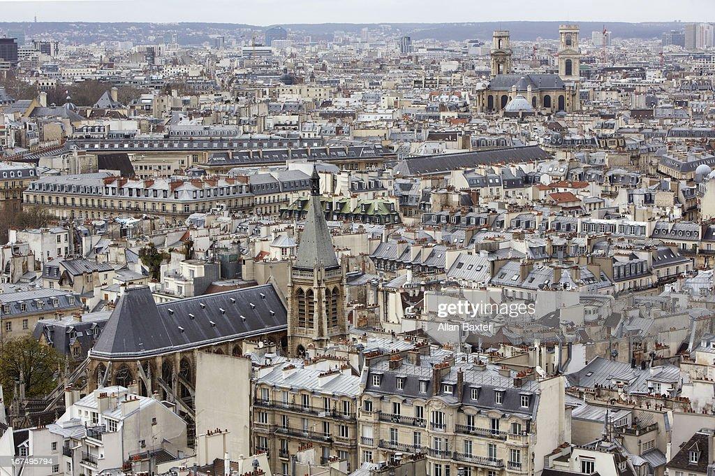 Skyline of Paris : Stock Photo