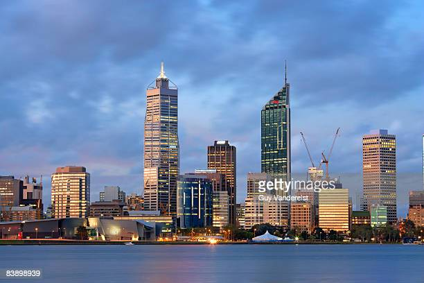 Skyline of Perth at dusk