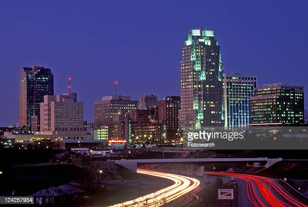 Skyline of Raleigh at night