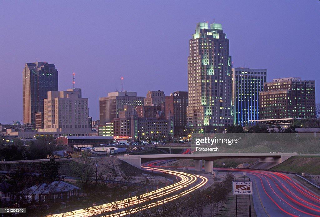 Skyline of Raleigh, NC at night