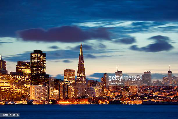 Skyline of San Francisco during sunset