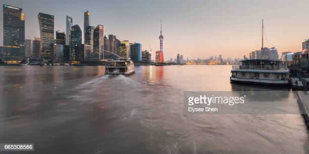 Skyline of Shanghai with Huangpu river
