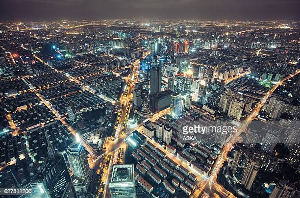 skyline of Shanghai,China