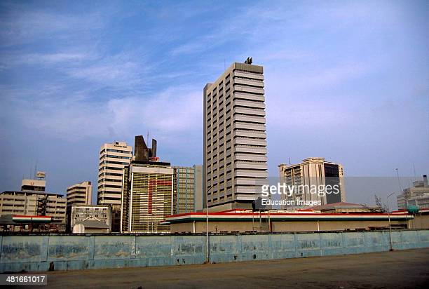 Skyline of the business district in Lagos Nigeria's largest city with a population of over 12 million West Africa