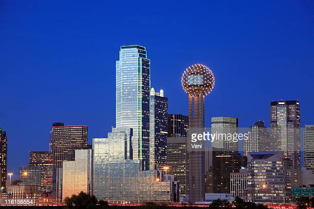 Skyline of the city of Dallas, Texas during summer evening