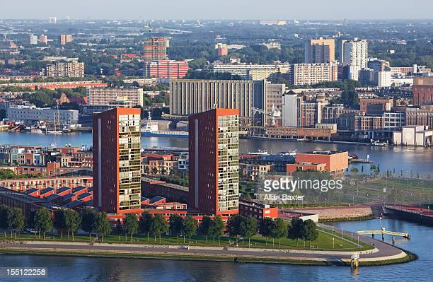 Skyline of the docks of Rotterdam