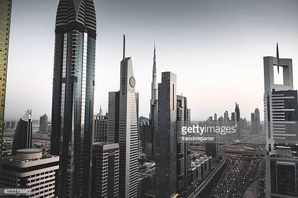 skyline of the Dubai downtown