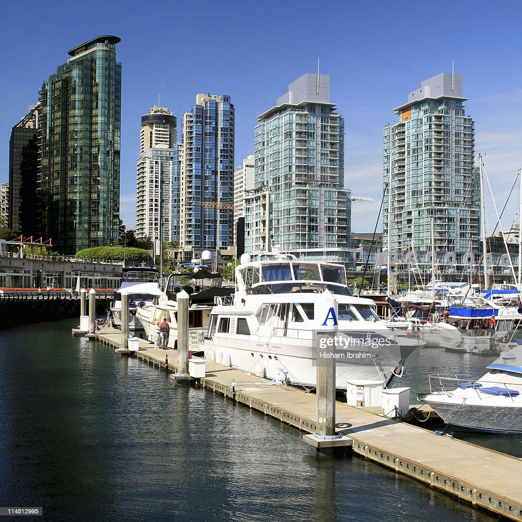 Skyline of Vancouver and Coal Harbour - Canada, BC