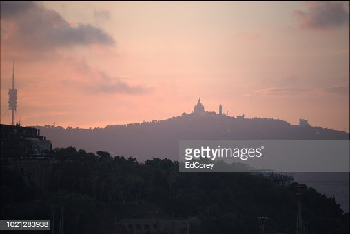 Skyline over Barcelona : Foto stock