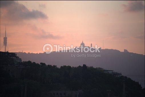 Skyline over Barcelona : Foto stock